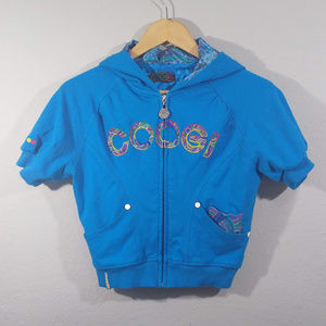 COOGI Bright Blue Crop Hoodie